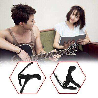 New Acoustic Electric Tune Quick Change Trigger Guitar Capo Key Clamp Black F@