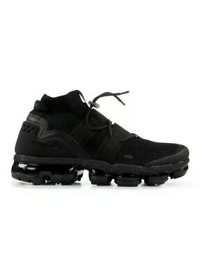 Nike Air Vapormax FLYKNIT UTILITY Mens SZ 6.5 Women's 8 Triple Black AH6834-001