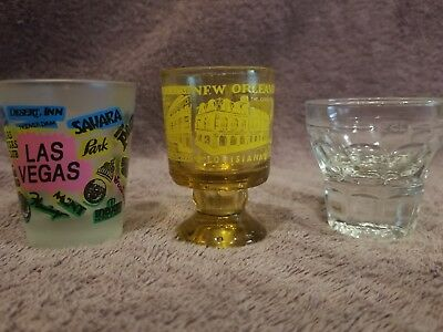 Collectible Vintage Shot Glasses Mixed Lot of 3 (Lot 105)
