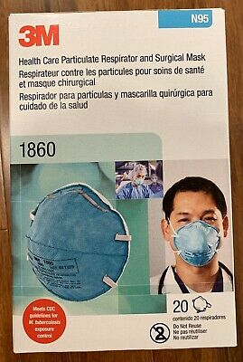 3M N95 Particulate Respirator boxes of 20 #1860 Mask Cone FLU EXP 2025
