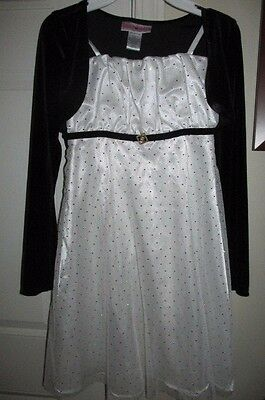 Girls EMILY WEST Party Dress Size 12 Holiday Sequins