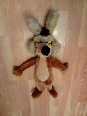 """Vintage Wile E Coyote 26"""" Plush 1992 Warner Bros Mighty Star"""