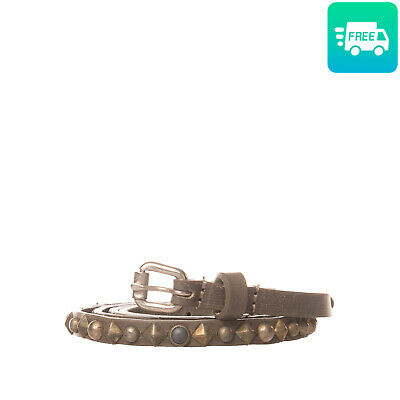 RRP€170 HTC Leather Belt Size 85/34 HANDCRAFTED Studded Pin Buckle Made in Italy
