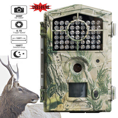 Boly Hunting Trail Camera BG490 30M 1080P 850nm Low Glow 100ft Detection 46