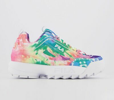 FEMMES FILA DISRUPTOR II Tie And Dye Multi Arc En Ciel