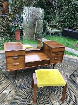 Vintage retro Dressing table with stool