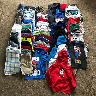 HUGE Boys Clothes Bundle Age 6-7 Years, 57 x Items inc Next, H&M and George