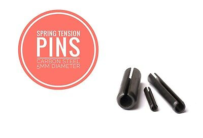 Slotted Spring Tension Pins Sellock Roll Pins Carbon Steel 5mm Diameter