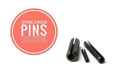 Slotted Spring Tension Pins Sellock Roll Pins Carbon Steel 4mm Diameter