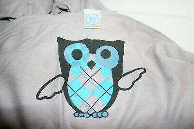 Gray 100% Cotton Mother's MOBY WRAP Cloth Baby Carrier Owl Design 8-35 lbs