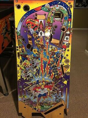 Stern The Simpsons Pinball Party Pinball Machine Playfield NEW NOS