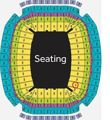 2 BRAD PAISLEY Tickets for HOUSTON RODEO Lower Level, 131/H Sat 3/21 3:45 PM