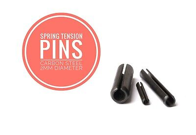Slotted Spring Tension Pins Sellock Roll Pins Carbon Steel 2mm Diameter