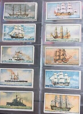 """Chairman Cigarette Cards 1925 """"The Evolution Of The Royal Navy"""" Full Set 25"""