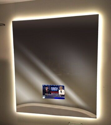 """BACKLIGHTED MIRROR TV Ultra Thin 16"""" LED TV by Electric Mirror. CLOSE OUT SALE!"""
