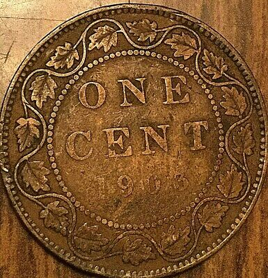1903 Canada Large Cent Penny 1 Cent