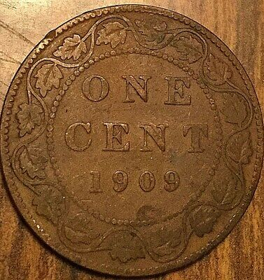 1909 Canada Large Cent Penny 1 Cent