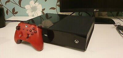 Microsoft Xbox One 500Gb Black Console  With Faulty Disc Tray + Control + Cables