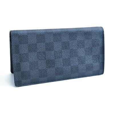 LOUIS VUITTON Damier Graphite Portefeuille Brazza Long Wallet N62665 LV 12507
