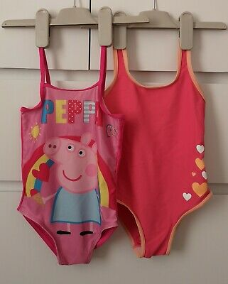 PEPPA PIG and pink___2x swimming costume girl age 2-3 yrs VGC