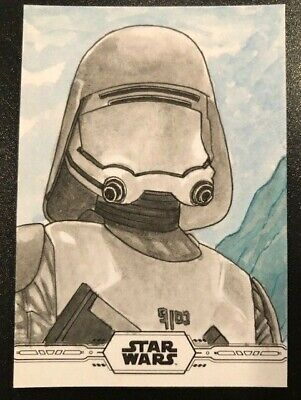 2019 Star Wars Topps Chrome Legacy Sketch Card Shaow Siong Artist Signature