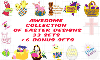 EASTER EMBROIDERY DESIGN SETS DOWNLOAD CD Or USB PES BROTHER