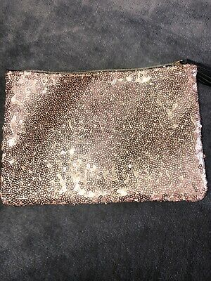 IPSY Glam Bag Makeup Cosmetic Bag Sequin Glitter Tassel Clutch GUC