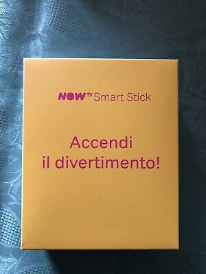 NOW TV SMART STICK SKY YOUTUBE DAZN NETFLIX - Garanzia 24 mesi - SENZA TICKET