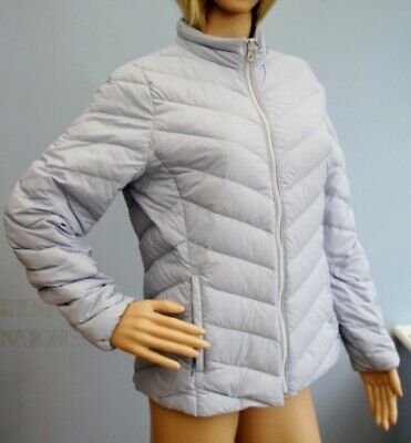 Marks & Spencer Pale Blue Feather Padded Lightweight Zip Jacket Coat Size 12