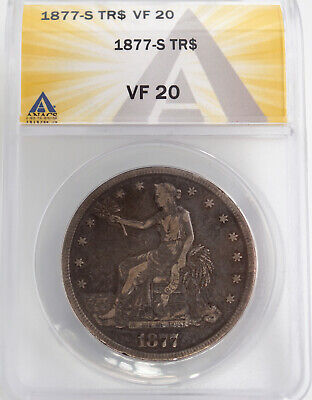 1877-S Trade Dollar Anacs Vf20