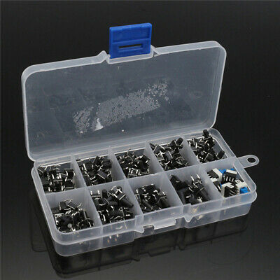 180 Pcs Set Micro Tactile Push Button Switch Kit Value Momentary Tact Assortment