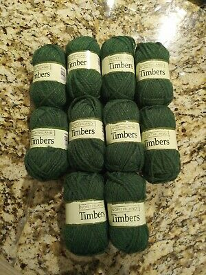 228 yds each Ginger lot of 2 Northland Lodge wool blend yarn