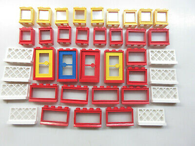 Lego Vintage Windows, Doors & Fencing-'70's & '80's fixed glass