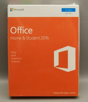 MICROSOFT OFFICE Home and Student 2016 English Eurozone Windows PC 1 Product Key