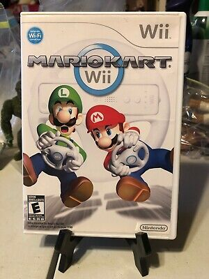 Mario Kart Wii With Box Manual Papers Case Works Nintendo Race Cart Video Game