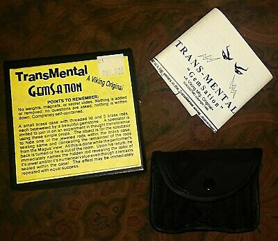 Vtg Close-Up Magic Trick Trans-Mental Gem-Sation NEVER USED! Viking Original NOS