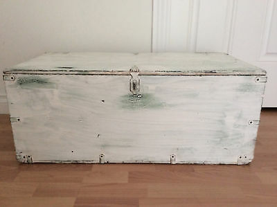 Mid Century Trunk Lined With 1950s Magazine & Newspaper, Retro Coffee Table VTG