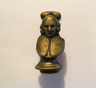 Benjamin Franklin/Colonial Man Brass Door Knocker