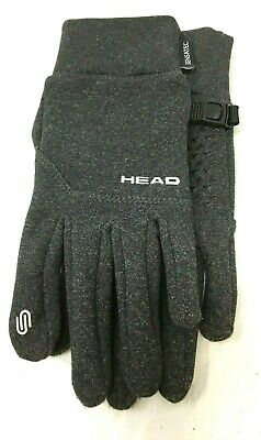 Head Womens Gray Hybrid Sensatec Touchscreen Running Gloves Size XSmall PRE