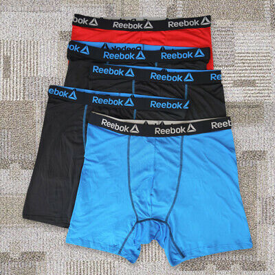 BIG&TALL PLUS Reebok 5 Pack Mens Quick Dry Sports Trunks size 2XL-5XL