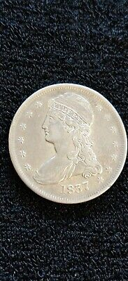 1837 Capped Bust Half Dollar, Reeded Edge
