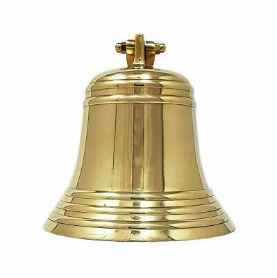 """Solid Brass Chrome Finish Ship/'s Bell 6/"""" Nautical Maritime Hanging Wall Decor"""