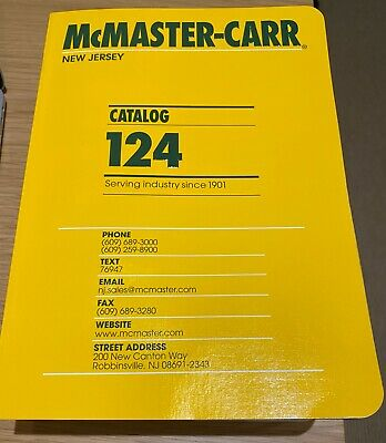 McMaster-Carr New Jersey Catalog 124