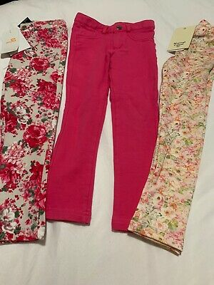 NWT Mayoral Pink Floral Leggings  Lot Toddler Girls 4T