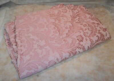 """Pink Floral Print Heavy Fabric Table Cloth - Approx. 57"""" x 132"""""""