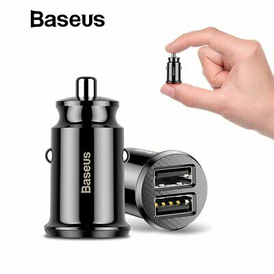 Baseus 3.1A Dual USB Car Charger Mini Power Adapter for iPhone 11 Samsung S10