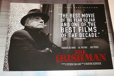 The Irishman 2019 Official Promo Fyc 32-Page Booklet Netflix Martin Scorsese