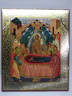 Dormition of the Virgin Mary - Large Russian Icon on Wood