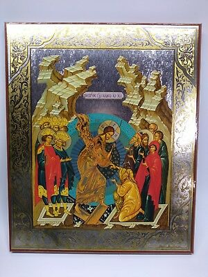 The Resurrection of our Lord - Easter - Large Russian Icon on Wood