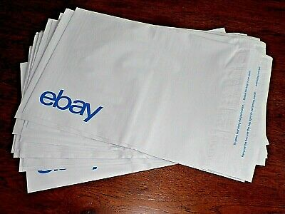 "Set 25 - eBay Branded Self-sealing Polymailer (No Padding) Blue Logo 9"" x 11.5"""